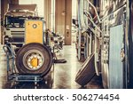 bus and truck waiting for... | Shutterstock . vector #506274454