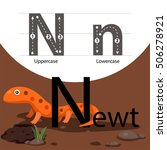 Illustrator Of Newt With N Font