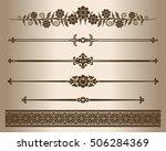 decorative lines. design... | Shutterstock .eps vector #506284369