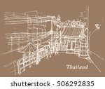 vector illustration of thailand ... | Shutterstock .eps vector #506292835