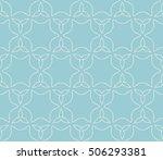 seamless floral geometric...   Shutterstock .eps vector #506293381