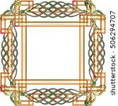 celtic knot style frame border...   Shutterstock .eps vector #506294707