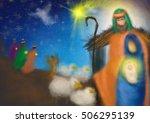 christmas nativity religious... | Shutterstock . vector #506295139