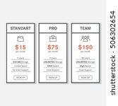 simple pricing table with 3... | Shutterstock .eps vector #506302654