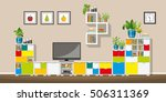 illustration of interior... | Shutterstock .eps vector #506311369
