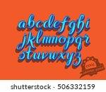 hand drawn script font. brush...   Shutterstock .eps vector #506332159
