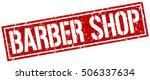 barber shop. grunge vintage... | Shutterstock .eps vector #506337634