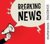 megaphone hand  business... | Shutterstock .eps vector #506338435
