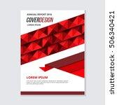red geometric cover design...   Shutterstock .eps vector #506340421