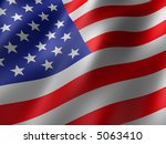 us flag | Shutterstock . vector #5063410