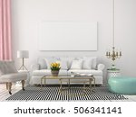 3d illustration. interior... | Shutterstock . vector #506341141