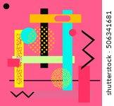 geometric pattern juxtaposed... | Shutterstock .eps vector #506341681