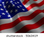 us flag | Shutterstock . vector #5063419