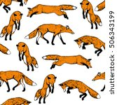 vector seamless pattern with... | Shutterstock .eps vector #506343199