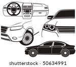 car exterior and dashboard view.... | Shutterstock .eps vector #50634991