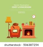 colorful vector cozy warm ...   Shutterstock .eps vector #506387254