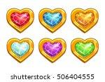 cartoon golden rare hearts with ...
