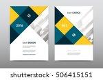 brochure layout template flyer... | Shutterstock .eps vector #506415151