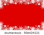 christmas frame from white... | Shutterstock . vector #506424121