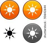 sun round buttons. black icon... | Shutterstock .eps vector #50642644