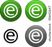 enternet round buttons. black... | Shutterstock .eps vector #50642647