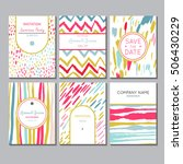 universal invitation templates. ... | Shutterstock .eps vector #506430229