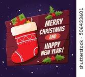 merry christmas design elements....   Shutterstock .eps vector #506433601