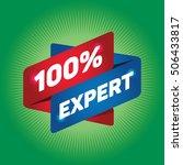 100  expert arrow tag sign. | Shutterstock .eps vector #506433817
