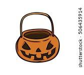 pumpkin basket vector | Shutterstock .eps vector #506435914