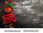 spicy chili sauce  ketchup | Shutterstock . vector #506436265