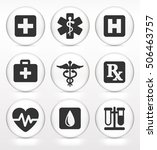 health care and medical symbols ... | Shutterstock .eps vector #506463757