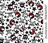 skull pattern | Shutterstock .eps vector #506464567