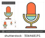 record microphone vector line...   Shutterstock .eps vector #506468191