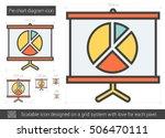 pie chart diagram vector line... | Shutterstock .eps vector #506470111