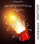 christmas background with open... | Shutterstock .eps vector #506475259