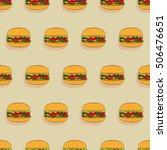 burger with juicy beef  fresh... | Shutterstock .eps vector #506476651