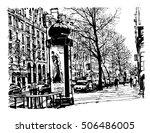 boulevard in paris   vector...   Shutterstock .eps vector #506486005