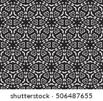 seamless vector pattern. floral ... | Shutterstock .eps vector #506487655