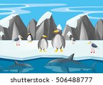 penguins and other animals in... | Shutterstock .eps vector #506488777