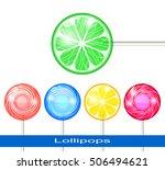 set of lollipops on a white...   Shutterstock .eps vector #506494621