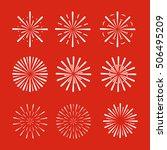 firework set. vector eps. 10 | Shutterstock .eps vector #506495209