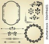 vintage set. floral elements... | Shutterstock . vector #506496601