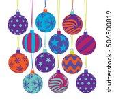christmas ball icons  isolated... | Shutterstock .eps vector #506500819