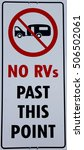 no rvs past this point sign | Shutterstock . vector #506502061