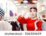 surprised elegant woman... | Shutterstock . vector #506504659