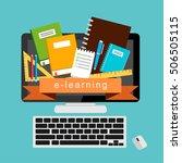 e learning  e book  online... | Shutterstock .eps vector #506505115
