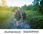 blurry of camping friendship... | Shutterstock . vector #506509945