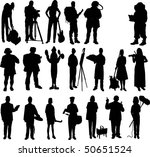 people mix silhouette vector | Shutterstock .eps vector #50651524