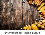 organic food. yellow autumn...
