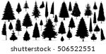 tree set  christmas tree on the ... | Shutterstock .eps vector #506522551